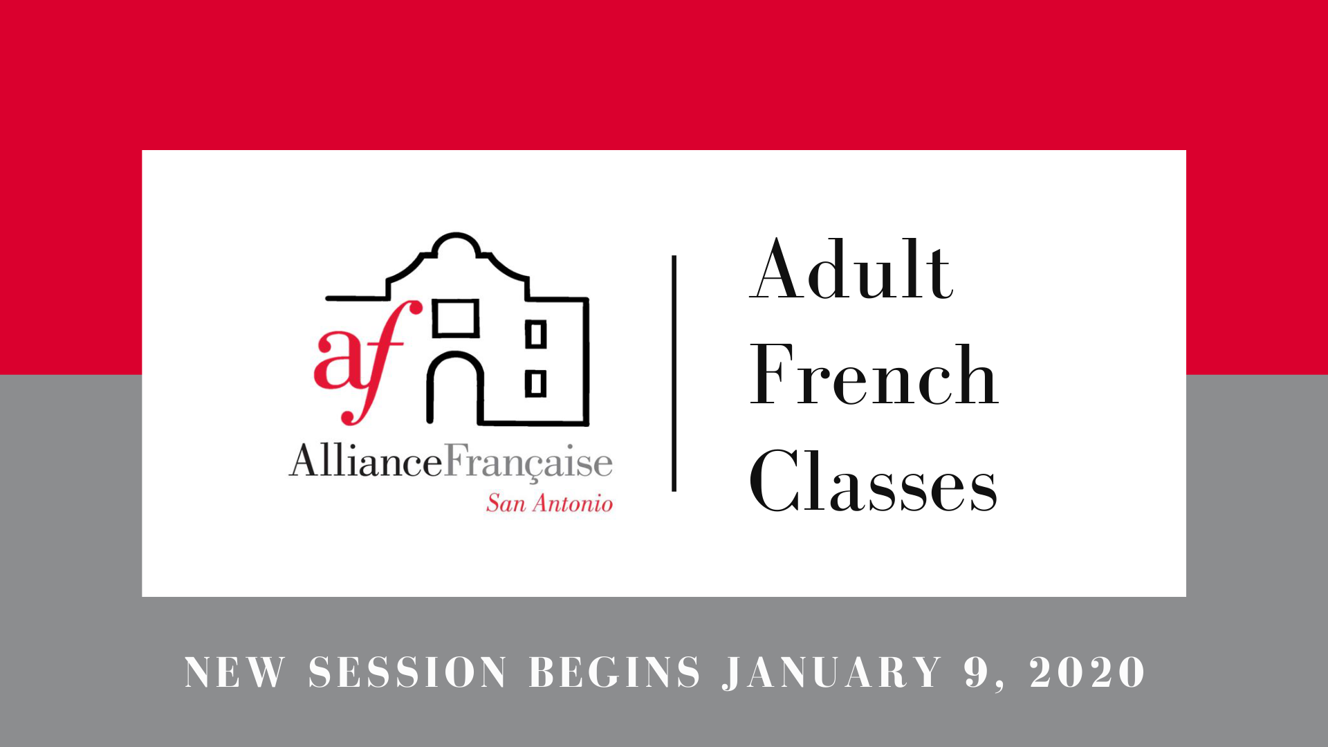 Adult French Classes January 2020